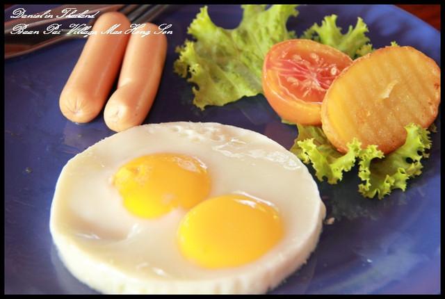 【泰國湄宏順】Baan Pai Village 一餐只要80B超值美式早餐 @小盛的流浪旅程